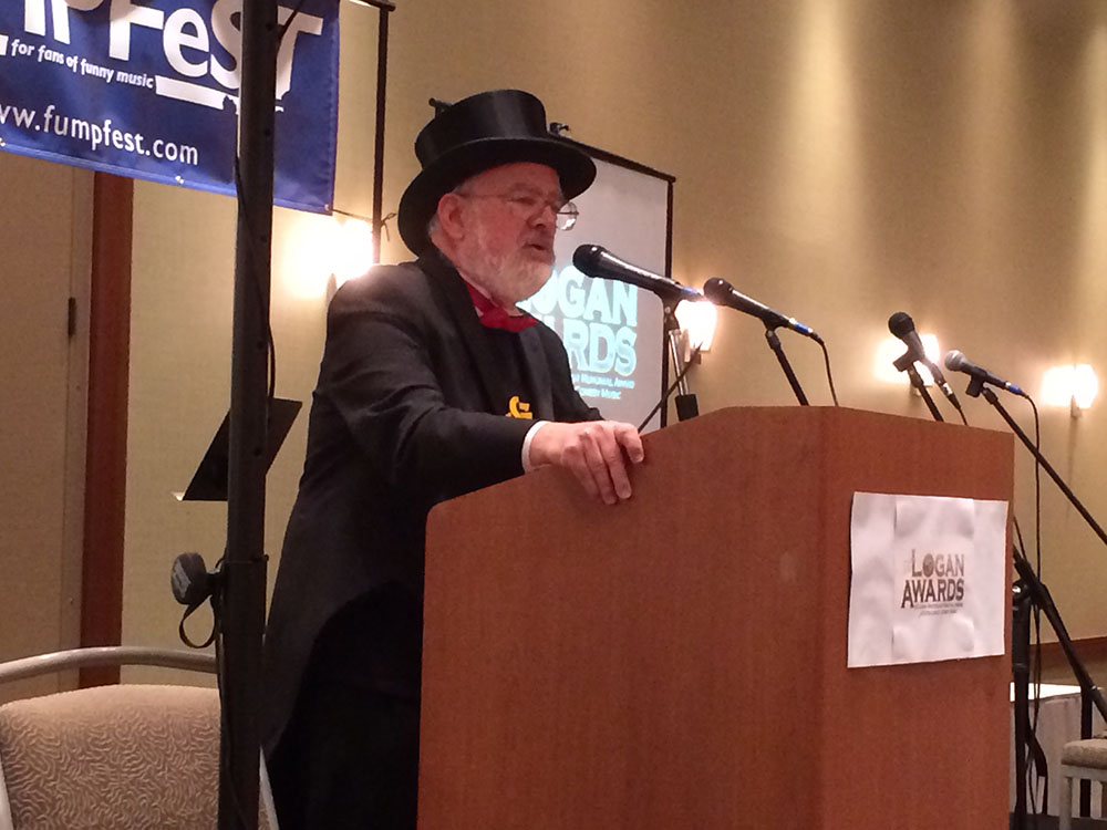 Dr. Demento hosting the Logan Awards